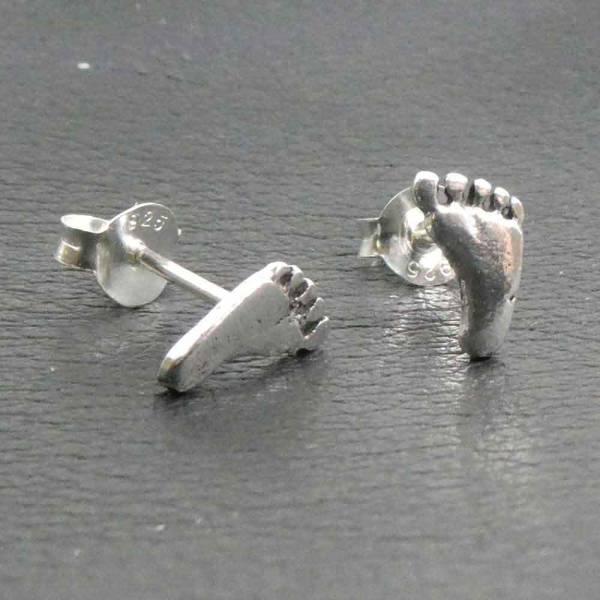 Füße Ohrstecker Ohrschmuck Fuß Ohrring