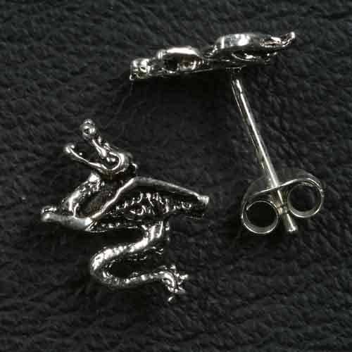 Drache Ohrstecker Schmuck 925 Silber