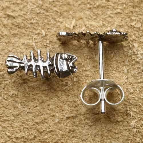 Fishbone Ohrstecker 925 Silber