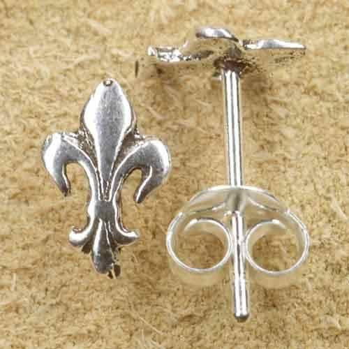 Fleur de Lys Ohrstecker Ohrring Silber