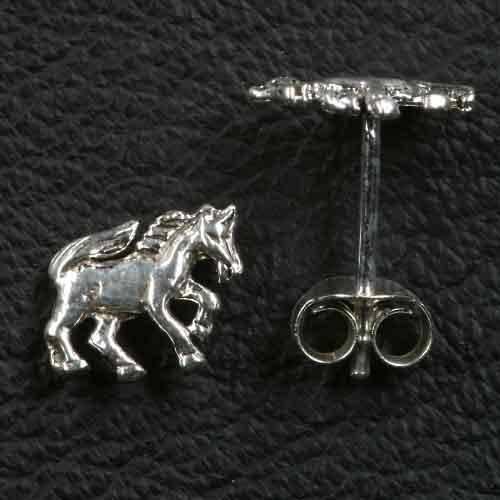 Pferd Ohrstecker 925 Silber