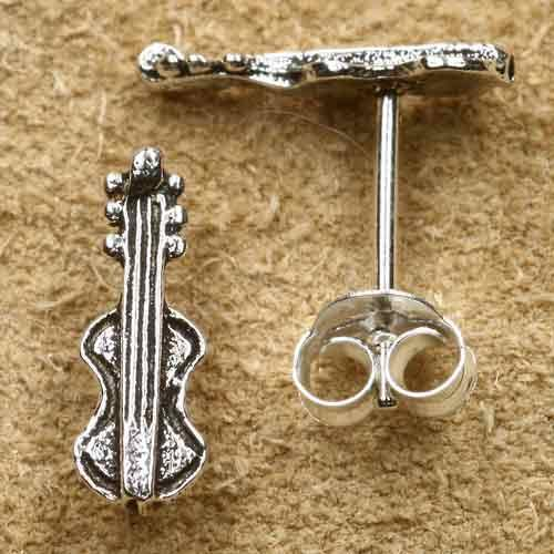 Geige Ohrstecker Sterlingsilber