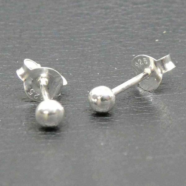 Kugeln Ohrstecker 925 Silber Ohrschmuck