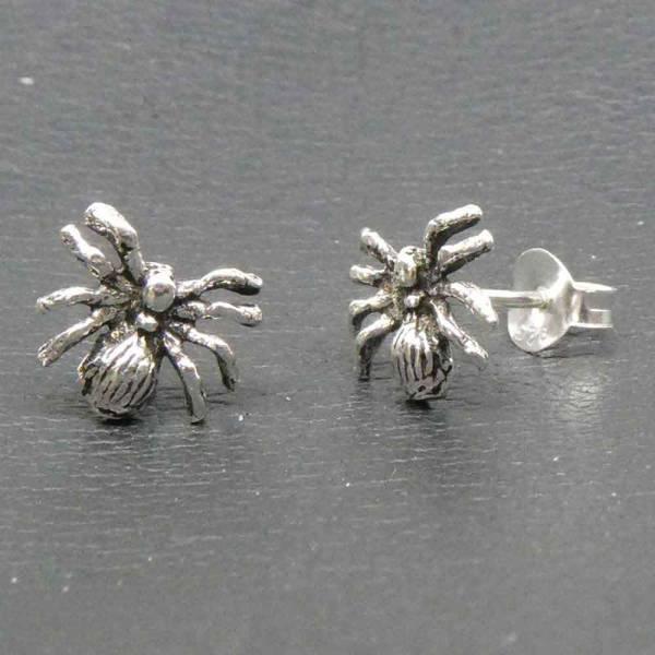 Spinne Ohrstecker Ohrring Silber