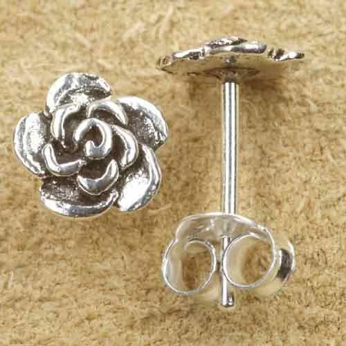 Blume Ohrstecker Ohrring Silber