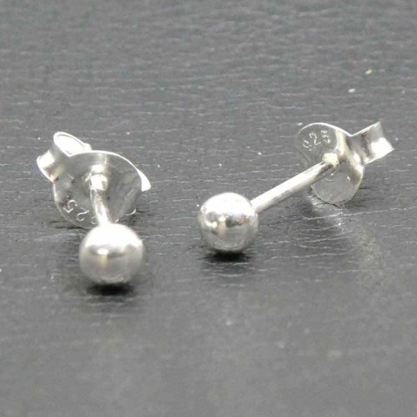 Kugel Ohrstecker 4mm Ohrring Silber