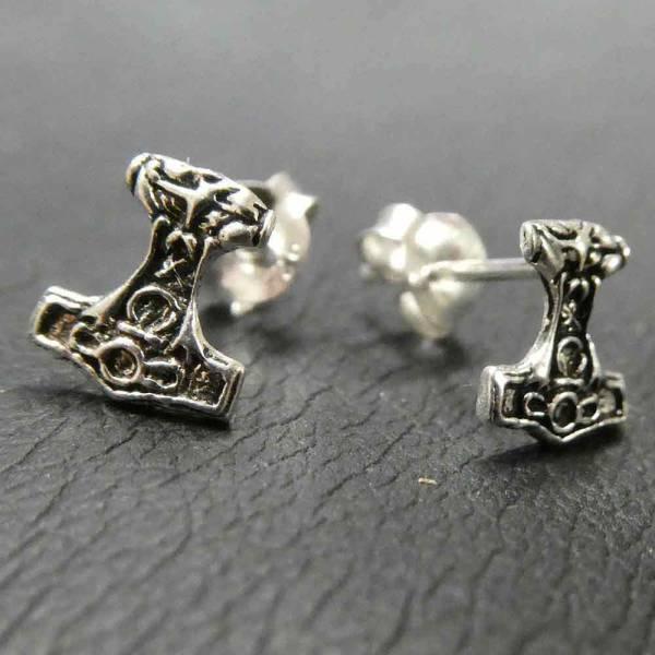 Thorshammer Ohrring Silber