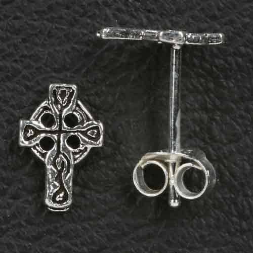 Keltenkreuz Ohrstecker 925 Silber