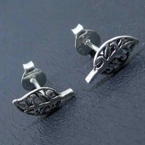 Blätter Ohrschmuck Ohrring Silber