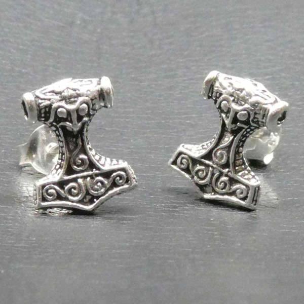 Thorshammer Ohrring Ohrstecker Silber
