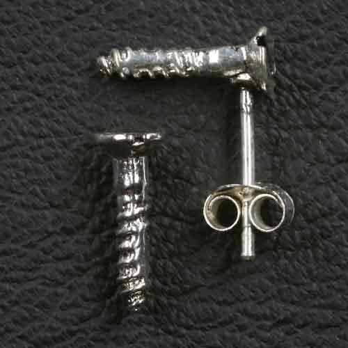 Schraube Ohrstecker 925 Silber Ohrring