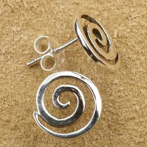 Spirale Ohrstecker 925 Silber