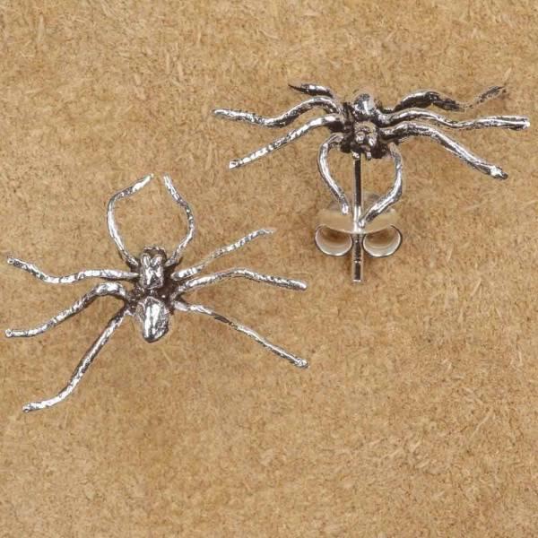 Spinne Ohrstecker Silber Schmuck Gothic