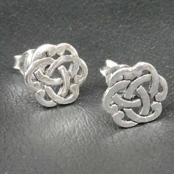 Keltischer Ohrschmuck Triquetta Silber