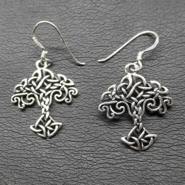 Keltischer Lebensbaum Ohrringe Silber