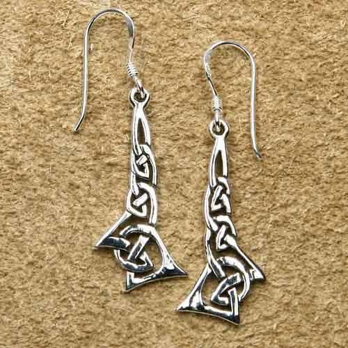 Keltische Ohrringe Silber