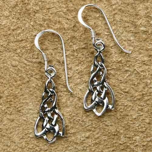 keltischer Ohrschmuck 925 Silber Ohrringe