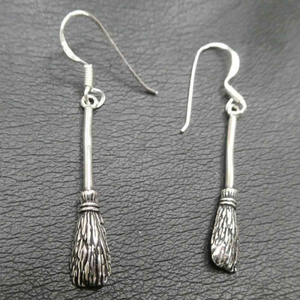 Hexen Ohrschmuck Hexenbesen Ohrring