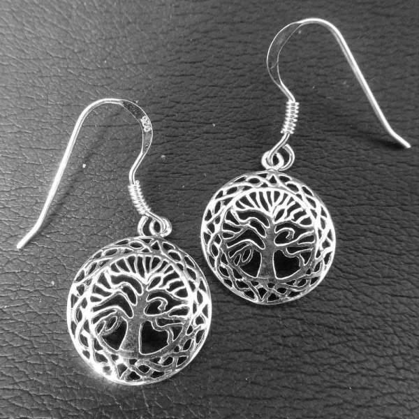 Keltischer Lebensbaum Ohrschmuck Silber Ohrringe