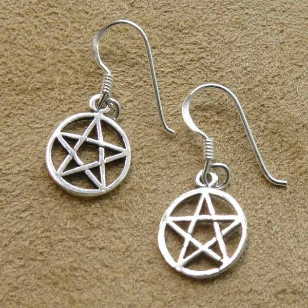 Pentagramm Ohrring Schmuck Silber