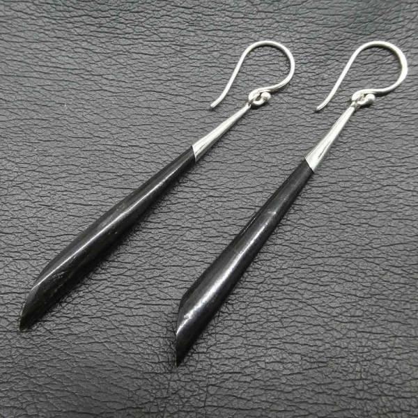 Horn Ohrschmuck Silber Ohrhänger