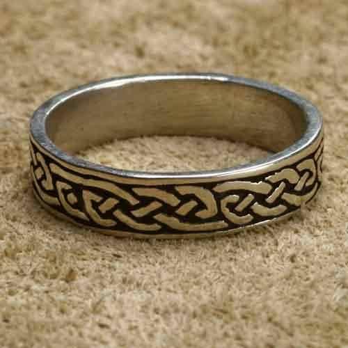 keltischer Silberring 925 Sterlingsilber Bandring