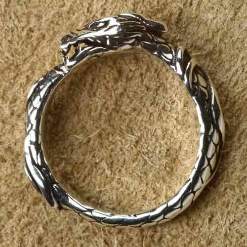 Drache Ring Schmuck Silber