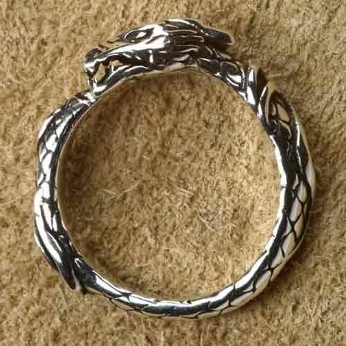 Drache Silberring 925 Silber gr