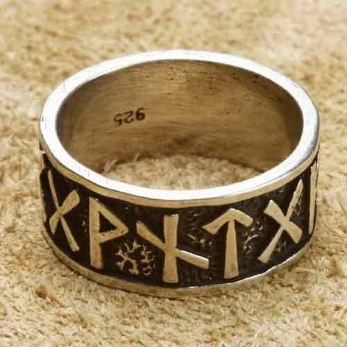 Runen Silberring 925 Sterlingsilber Bandring