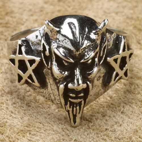 Gothic schmuck  Teufel Silberring Gothic Schmuck