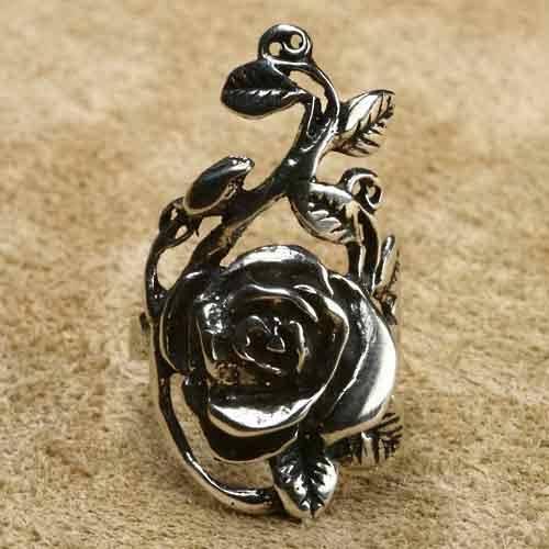 Rose Silberring Schmuck