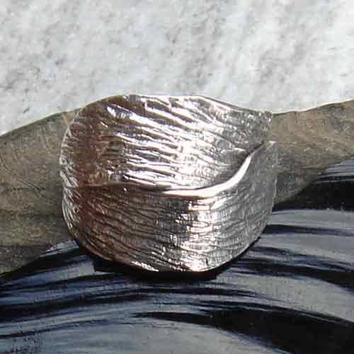 ausgefallener Silberring leicht größenverstellbar