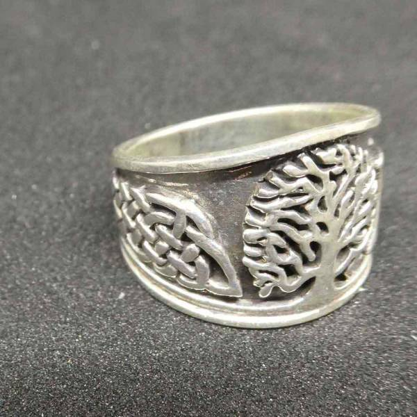 Lebensbaum Schmuck Ring Silber keltisch