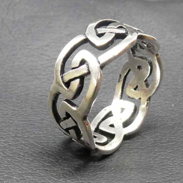 Kelten Ring Silber Damen Herren