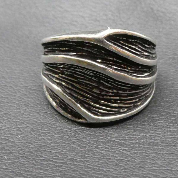 Ring Silber Blatt ausgefallener Damen Ring