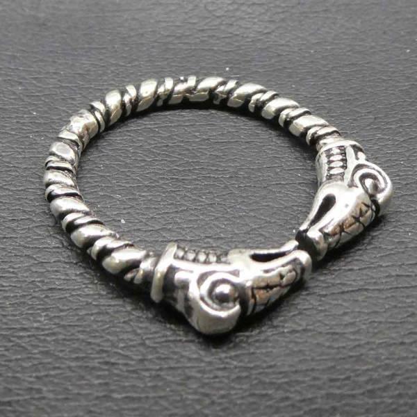Drachen Ring größenverstellbar Silber