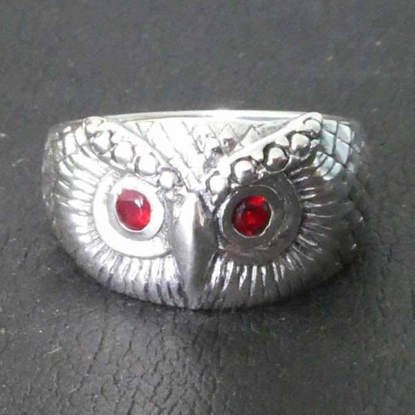 Eulen Ring Silber Damen Schmuck