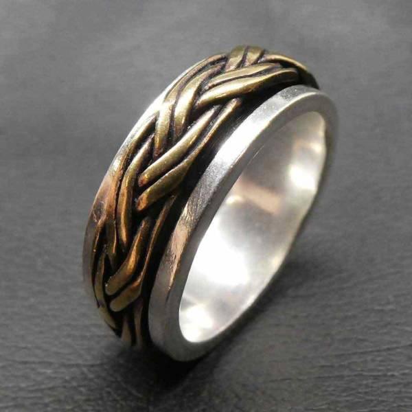 Spinning Ring Silber Bronze edel ausgefallen