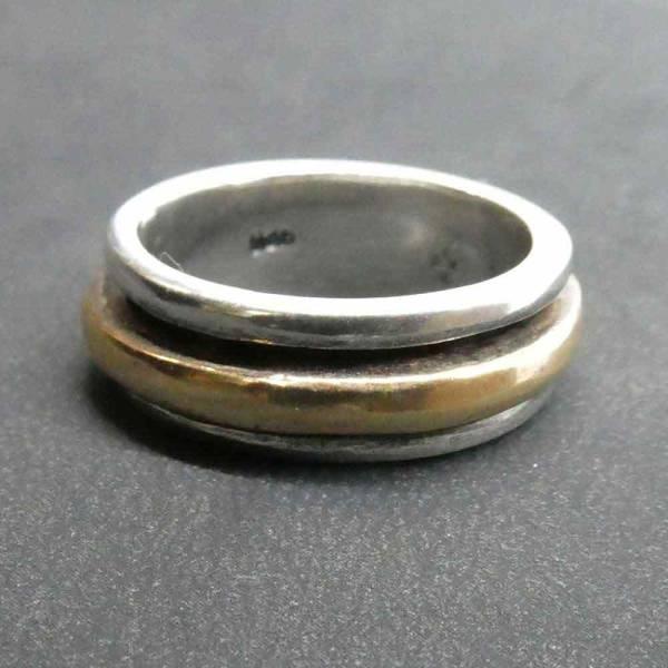 Ring Silber Spinning Silberring