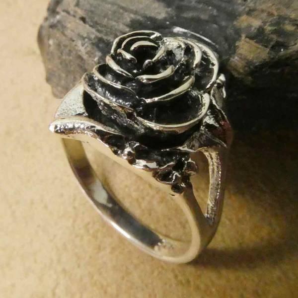 Rosen Ring Giftring Silber