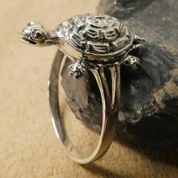 Schildkröten Giftring Silber
