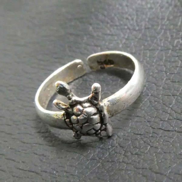 Schildkröte Silber Schmuck Zehenring