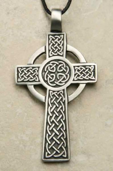 Highlander Kreuz Amulett Pewter Schmuck