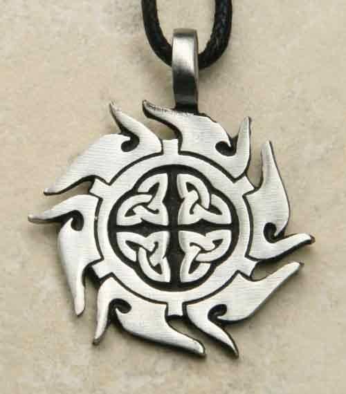 Keltische Sonne Schmuck Amulett