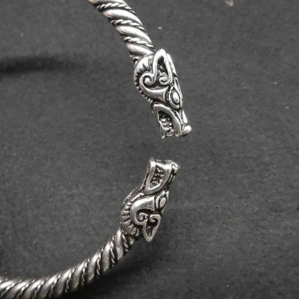 Wikinger Armschmuck Himmelswölfe massiv Silber