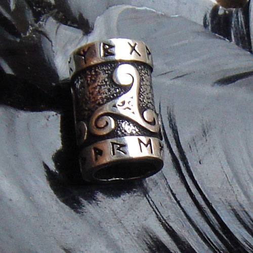 Bartperle Triskel keltischer Haarschmuck