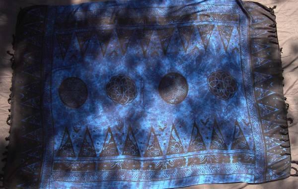 keltisches Tuch blau