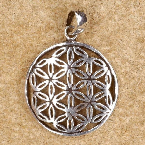 Blume des Lebens Schmuck Anhänger für Kette 925 Silber