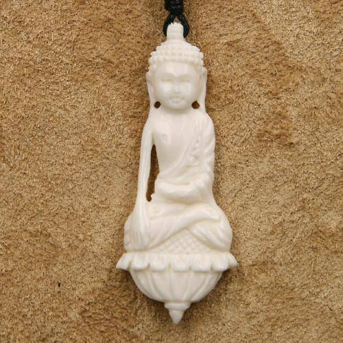 Buddha Schmuck Kette Knochen