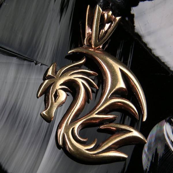 Drachen Schmuck Bronze Anhänger